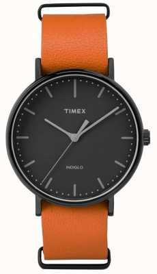 Timex Unisex weekenderフェアフィールドブラックダイヤル TW2P91400