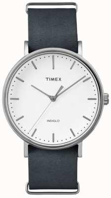 Timex ユニセックスウィークエンドフェアフィールドホワイトダイヤル TW2P91300