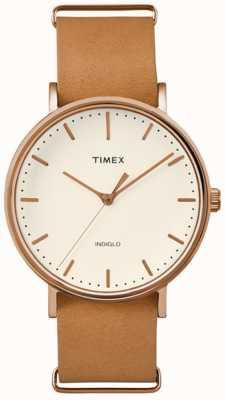 Timex Unisex weekenderフェアフィールドクリームダイアル TW2P91200
