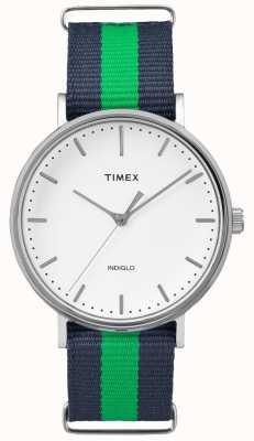 Timex ユニセックスウィークエンドフェアファックスネイビーグリーンストラップ TW2P90800