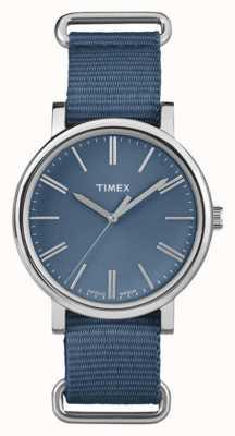 Timex ユニセックスネイビーダイヤルネイビーファブリックストラップ TW2P88700