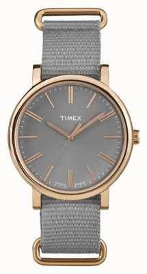 Timex ユニセックスグレーダイヤルグレーファブリックストラップ TW2P88600