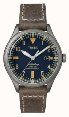 Timex ユニセックスウォーターベリーネイビーダイヤルブラウンストラップ TW2P84400