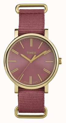 Timex ユニセックスローズダイヤルファブリックストラップ TW2P78200