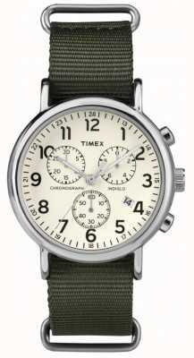 Timex Unisex weekenderクロノグラフダイヤル TW2P71400