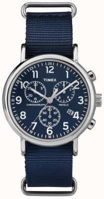 Timex ユニセックスウィークエンドクロノグラフブルー TW2P71300