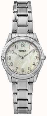 Timex レディースイーストンアベニューパールダイヤルスチールストラップ TW2P76000