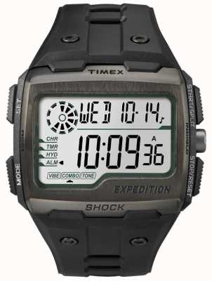Timex メンズグリッドショックアラームクロノグラフブラック TW4B02500