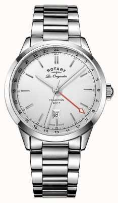 Rotary 伝統のメンズGMTスイス時計 GB90181/02