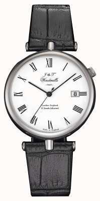 J&T Windmills Mens threadneedle機械式時計ブラックストラップ WGS10004/01
