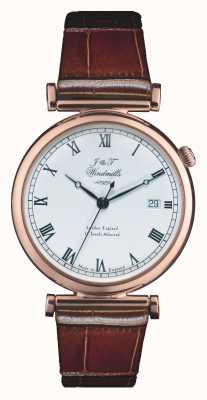J&T Windmills メンズbartholomewメカニカルローズゴールド腕時計 WGS50001/01
