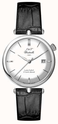 J&T Windmills メンズスレッドニードルmecahnical純銀製の腕時計 WGS10003/06