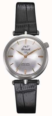 J&T Windmills 女性スレッドニードル機械式時計シルバーローズゴールド WLS10001/06