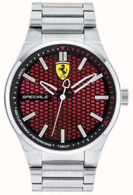Scuderia Ferrari Mens specialeステンレススチールブレスレットレッドダイヤル 0830357