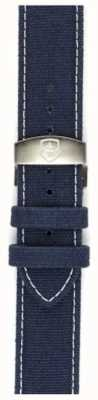 Elliot Brown メンズ22ミリメートルブルーキャンバス展開ストラップのみ洗浄 STR-C01