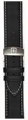 Elliot Brown メンズ22mmブラックレザーデプロストラップストラップのみ STR-L02