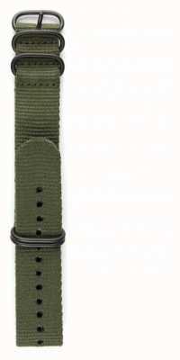 Elliot Brown メンズ22mmオリーブバリスティックナイロンガンメタルハードウェアストラップのみ STR-N01