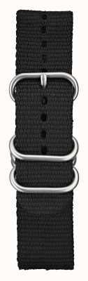 Elliot Brown メンズ22mmブラックバリスティックナイロンブラッシュハードウェア STR-N03