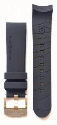 Elliot Brown メンズ22mmブラックラバータングバックルストラップのみ STR-R01