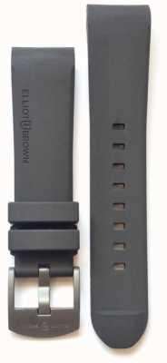 Elliot Brown メンズ22mmグレーラバースチールタンバックル STR-R02