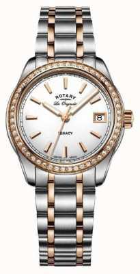 Rotary Womens les originalesレガシー2トーンステンレス LB90175/01