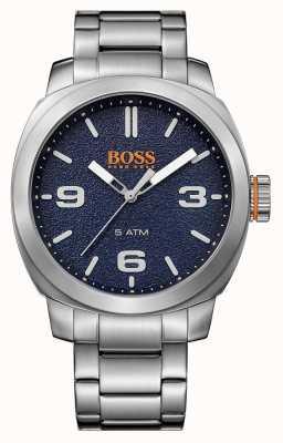 Hugo Boss Orange メンズケープタウンステンレススチールブレスレットブルーダイヤル 1513419