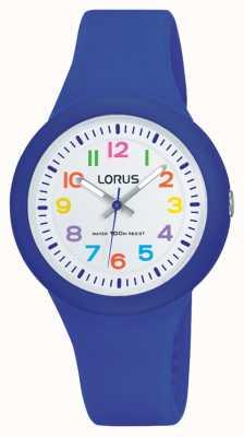 Lorus ユニセックスブルーラバーストラップホワイトダイヤル RRX45EX9
