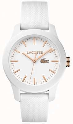 Lacoste レディース12.12ホワイトラバーストラップホワイトダイヤル 2000960