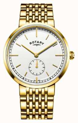 Rotary メンズカンタベリーゴールドトーンステンレススチールホワイトダイヤル GB05062/02