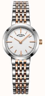 Rotary レディースカンタベリー2トーンホワイトダイヤル LB05061/02