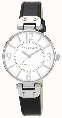 Anne Klein レディースブラックレザーストラップホワイトダイヤル 10/N9169WTBK