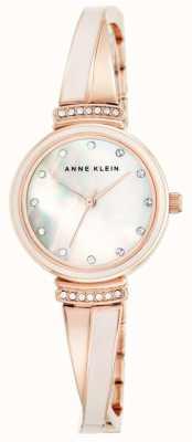 Anne Klein 女性は真珠のダイヤルの金のトーンのブレスレットの母をバラ AK/N2216BLRG