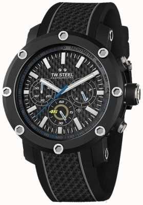 TW Steel メンズブラックラバーストラップブラッククロノグラフダイヤル TW937