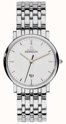 Michel Herbelin メンズステンレススチールシルバーメッシュ 12543/B11