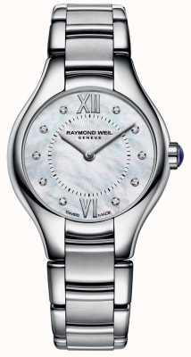 Raymond Weil 女性のステンレス鋼10ダイヤモンドの母ダイヤモンドのダイヤル 5124-ST-00985