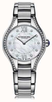 Raymond Weil レディースnoemia 62ダイヤモンドの真珠ダイヤル 5124-STS-00985