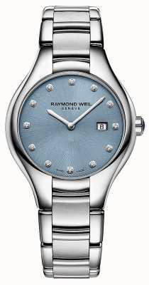 Raymond Weil レディースノミア12ダイヤモンドブルーダイヤル 5132-ST-50081