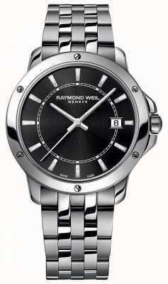 Raymond Weil メンズタンゴステンレスブラックインデックスダイヤル 5591-ST-20001