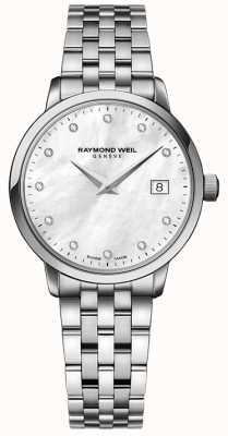 Raymond Weil 女性のtoccata石英ステンレスシルバーダイヤモンドドット 5988-ST-97081