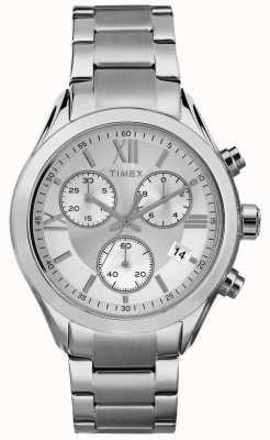 Timex 女性マイアミクロノグラフシルバートーン TW2P93600