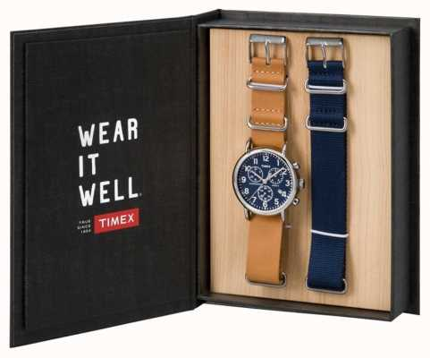 Timex メンズウィークエンドクロノグラフギフトセット TWG012800