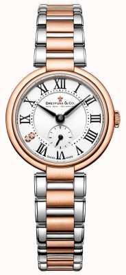 Dreyfussレディース2トーンバラゴールド1974腕時計 DLB00159/01/L