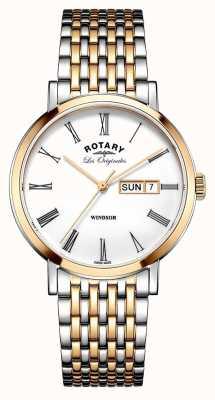 Rotary 紳士2トーンバラブレスレット GB90155/01