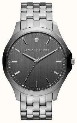 Armani Exchange メンズガンメタルグレーステンレススチールウォッチ AX2169
