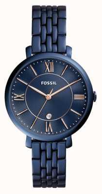 Fossil レディースジャケットブルーステンレススチール ES4094