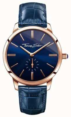 Thomas Sabo レディースグロームスピリットブルーレザー WA0250-270-209-33