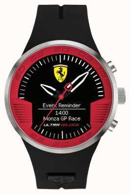 Scuderia Ferrari メンズブラックラバーストラップブラックレッド 0830373