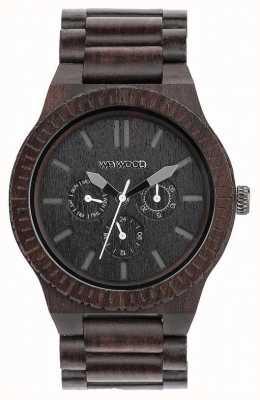 WeWood メンズカッパブラック木製ブラックストラップ 70315300