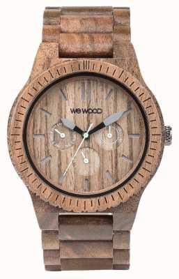 WeWood メンズカッパナッツ木製ブラウンストラップ 70315700
