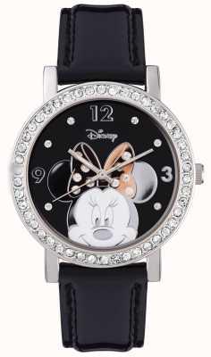 Disney Adult ミニーマウスステンレススティールシルバーケース MN1149